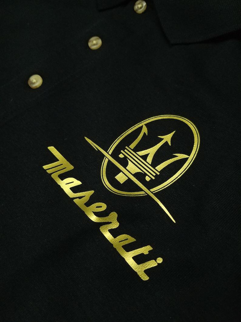 MASERATI logo Trident LUXURY CAR polo shirt men | Etsy