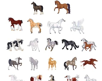 Horse embroidery designs 6 designs SAVE 60/% horse machine embroidery designs bundle