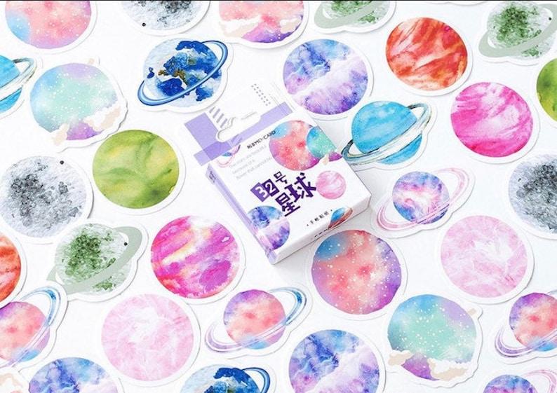 Planet Sticker Box