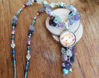 Pisces Zodiac Gemstone Necklace with Fluorite Healing Properties: Zodiac jewellery for February-March Birthstone - Birthday Gift