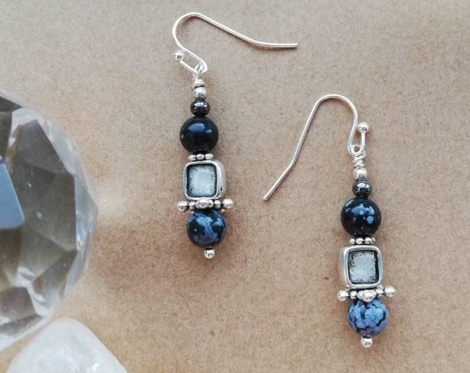 Snowflake Obsidian Earring Collection