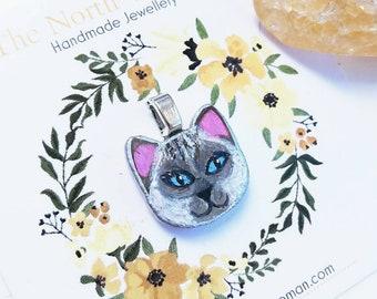Ragdoll Cat Pendant Necklace