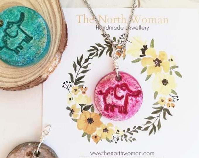 Elephant Pendant Necklace - Custom Colour & Chain