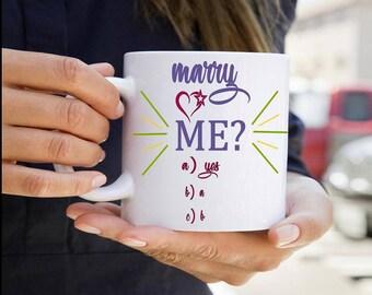 Proposal Mug Marry Me Ceramic Mug Funy Gift