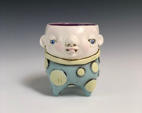 Whimsical Ceramic Face Planter