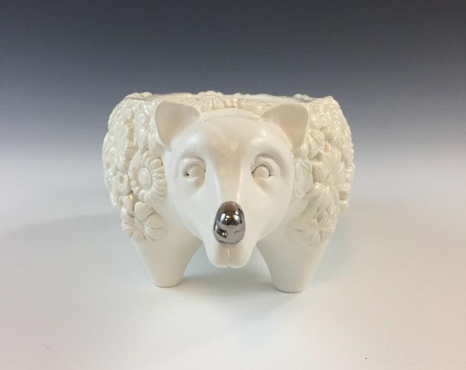 Ceramic Bear Planter