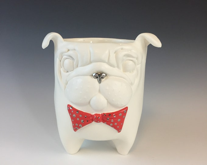 Ceramic Pug Planter