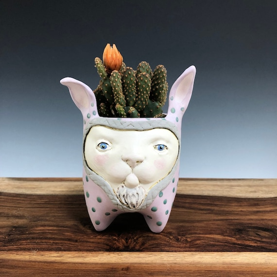 Whimsical Ceramic Planter