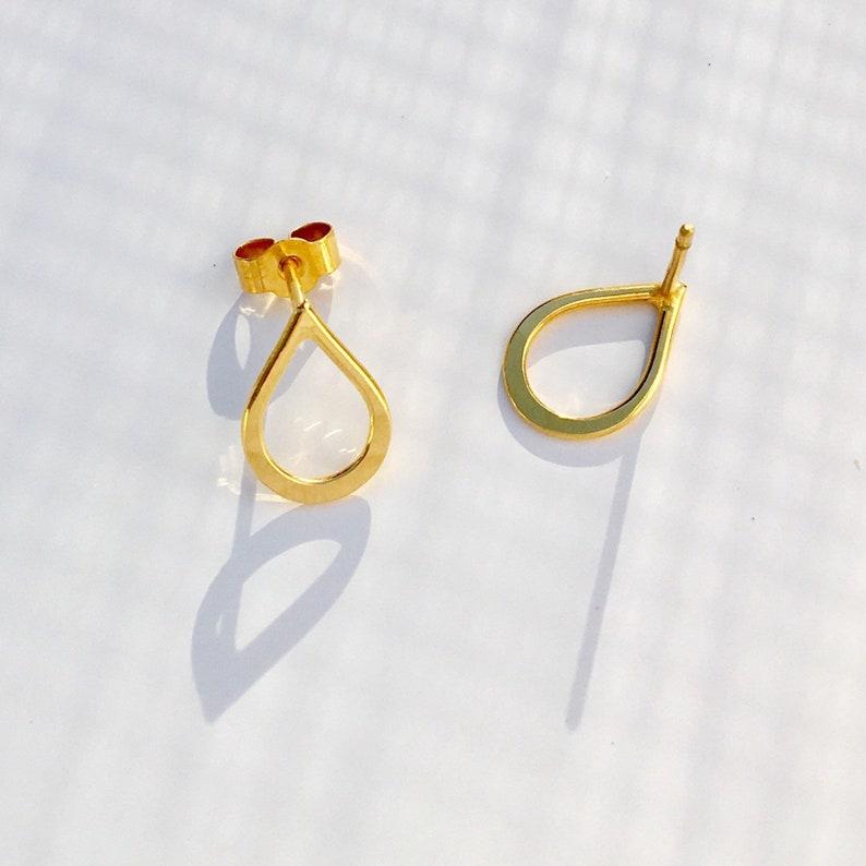 3f68d70c1 Gold Teardrop Earrings 22ct Yellow Gold Vermeil Sterling   Etsy