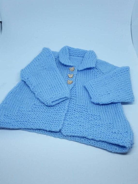 d83d8173b Matinee Coat Newborn Light Blue Baby Shower Hand