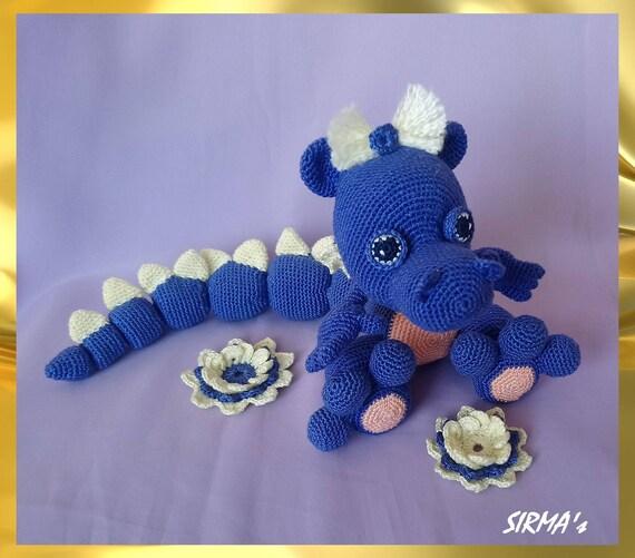 Dragon Crochet Pattern Amigurumi Dragon Pattern Etsy