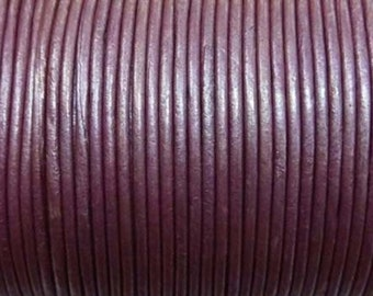 Cord leather color purple Ø 2 mm roll of 100 m