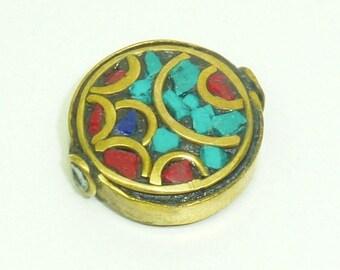 Ethnic nepal PE514 round bead