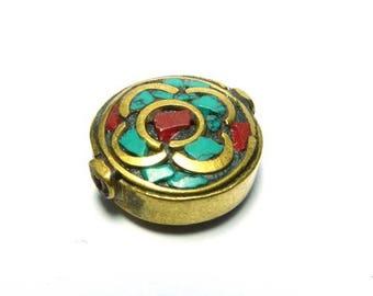 Ethnic nepal PE512 round bead