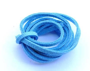 Cord Suede Blue azure