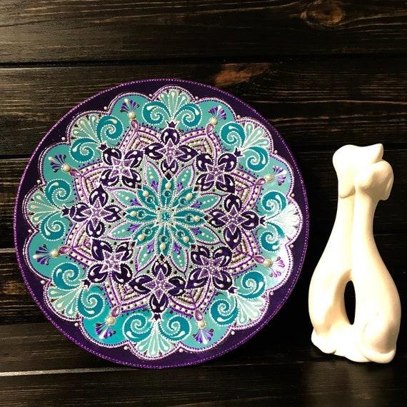 Majolica Plates Eastern Art Decorative Plates Dot Work