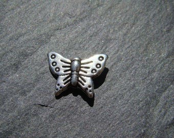 10 pearls Butterfly spacer 12 x 17 mm Tibetan silver