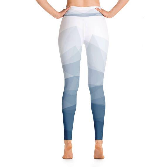 Leggings Woman leggings Leggings Geometric Leggings Colorful Blue Pants leggings Leggings Yoga print Workout Leggings Yoga Printed UwCqwSz