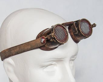 Steampunk Goggles - Post Apocalyptic - Wasteland Goggles - Burning Man Goggles - Cosplay - Wasteland Weekend Cosplay - Cyberpunk Goggles