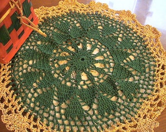 Lovely handmade lace doily crochet