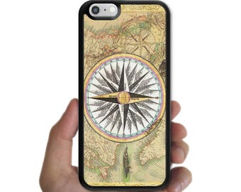 iPhone X 8 8 plus case 7 7 plus 6s plus 6s 6 plus 6 SE 5s 5 5c 4s 4 cover vintage world map compass case for apple