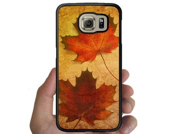 Galaxy note 8 5 4  S8 S8 Plus Cover S7 S7 Edge S6 S6 Edge Plus S5 S4 S3 Rubber autumn maple leaves red  pattern case for samsung