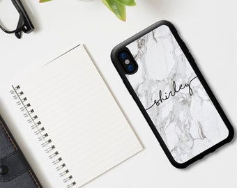 5800170dcb Custom Personalised iPhone Tpu Shockproof Bumper Case. Marble Print with  Your Name. For Apple iPhone XR XS Max X 8 8 Plus 7 6s SE 5C 5S 5
