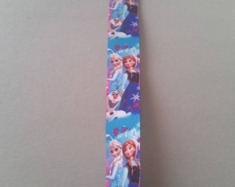 Gros Grain Ribbon - Frozen - Elsa - Anna - Olaf - 25 mm