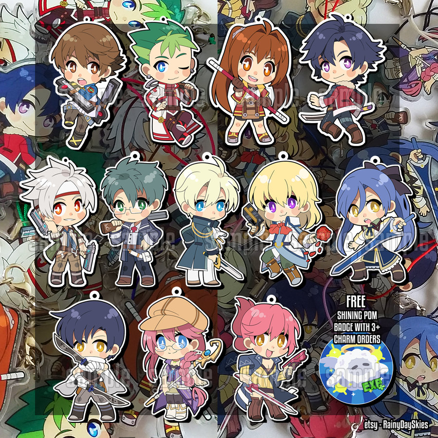 The Legend of Heroes Trails in the Sky Estelle Joshua Acrylic keychain 2-side Be