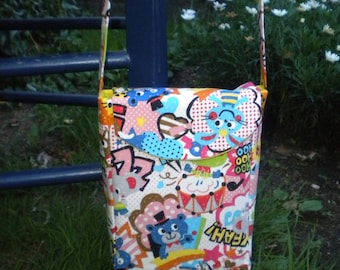 Manga style shoulder bag