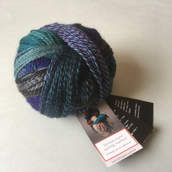 Color 1511 Submarine Self Striping Multicolor Fingering weight Knitting Yarn Schoppel Crazy Zauberball
