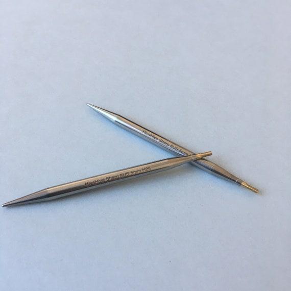 """HiyaHiya Sharp Steel Interchangeable Needle Tips  2-10 mm Length 4/""""//5/"""""""