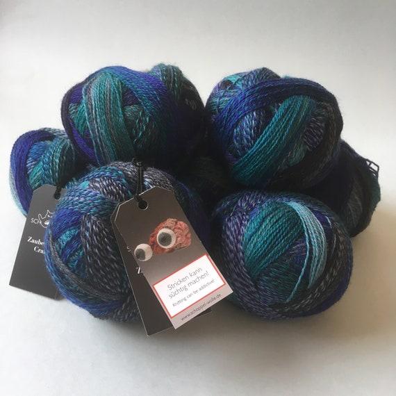Zauberball 100g von Schoppel Farbe 1535 Stone-Washed Sockenwolle Wolle