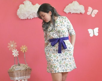 Dress - Julia in Prancing Foxes by Scribble & Pockets