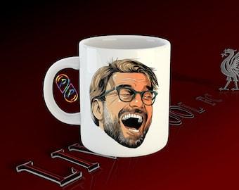 LIVERPOOL FC Jurgen Klopp LFC Football inspired Gift Coffee Office Mug Coaster