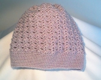 Purple crocheted baby Hat