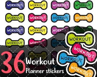 MojiMoi-kawaii Workout stickers for life planner,Erin Condren Stickers,Planner Stickers,kikki  stickers,plum stickers,filofax stickers