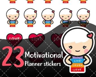 MojiMoi-kawaii LIVE stickers for life planner,Erin Condren Stickers,Planner Stickers,kikki  stickers,plum stickers,filofax stickers