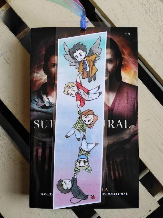 Supernatural Chibi Bookmark Bobby Dean Winchester Sam Etsy