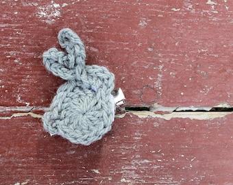 Bunny Crochet Hair Clips
