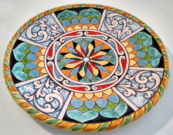 italienische keramik bemalt handgemacht in italien etsy. Black Bedroom Furniture Sets. Home Design Ideas