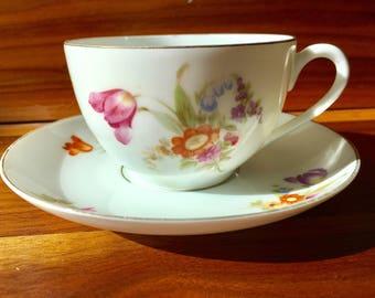 KPM Germany porcelain teacup and saucer