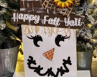 Scarecrow Sign svg | Snowman Sign svg | Reversible Holiday Sign svg | Reversible Snowman Scarecrow Sign svg | Standing Scarecrow Sign. |