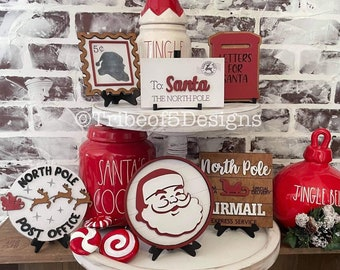Santa Tiered Tray svg | Santa Letters Tiered Tray | Santa Tier Tray svg | Christmas Tiered Tray svg | Christmas Tier Tray svg | Tiered Tray