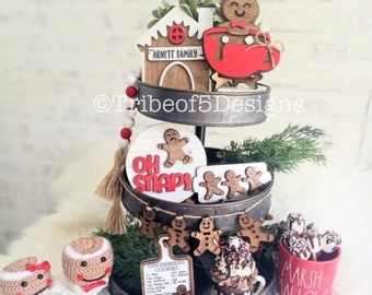 Gingerbread Tiered Tray | Gingerbread House Tiered Tray | Christmas Tiered Tray svg | Christmas Tier Tray svg | Christmas Gingerbread Tray |
