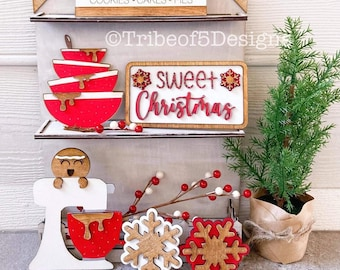 Gingerbread Tiered Tray svg | Gingerbread Tier Tray svg | Sweet Treats Tiered Tray svg | Christmas Baking Tiered Tray svg |