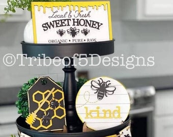 Bee Tiered Tray svg | Be Kind Tiered Tray svg | Summer Tiered Tray svg | Honey Tiered Tray svg | Bee Tier Tray svg | Tiered Tray Decor |