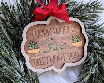 Co Worker Ornaments | Christmas Ornaments svg | Co Worker Gifts svg | Co Worker Ornament svg | Wood Ornaments svg | Glowforge Ornament svg |