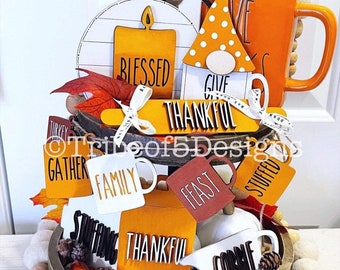Rae Dunn Tiered Tray svg | Rae Dunn Tier Tray Signs svg | Thanksgiving Rae Dunn Tiered Tray | Thanksgiving Tiered Tray Signs svg | Rae Dunn