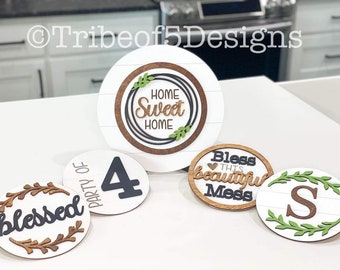 Interchangeable Signs svg | Tiered Tray Signs svg | Tier Tray Signs svg | Home Sweet Home Sign svg | Interchangeable Shelf Sitter svg |
